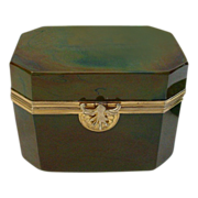 Rare 1845 Fredrich Egernann Lithyalin Glass Sugar Box Casket
