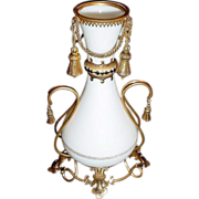 REDUCED Antique  Baccarat White Opaline Vase