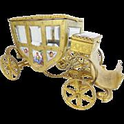 "SALE 7"" Austrian Viennese Enamel  ""Putti  Pastoral"" Miniature  Coach  ~ Nine Enamel ..."