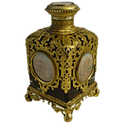 """SOLD LAYAWAY    BIG  Grand Tour Ruby Scent Bottle """"Five Miniatures"""""""