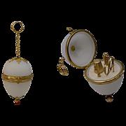 REDUCED Palais Royal Jeweled Opaline Etui Egg