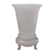 "REDUCED Gorgeous Antique French Opaline Vase ""Matching  Base"""