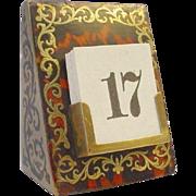 SALE Antique Boulle Calendar