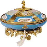 "SALE 12"" Antique Sevres Style Porcelain Casket ""EXQUISITE & RARE"""