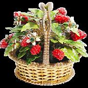 SALE 1978 Jane Hutcheson  Jeweled Strawberry Basket