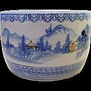 """SALE Antique 19"""" Japanese Porcelain Hibachi  """"BLUE & WHITE"""""""