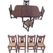 SALE Antique English Miniature Table and Chairs