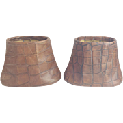 SALE 930 Faux Crocodile  Lamp Shades