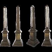 "SALE 14"" Grand Tour Bronze Obelisk Thermometer"