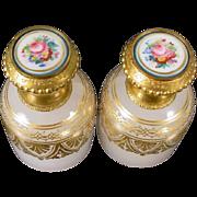 "SALE Palais Royal Opaline Sent Bottles  ""AWESOME PAIR! """