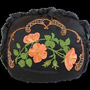 "SALE BIG Antique  Tea Cozy ""Hand Painted  SILK"""