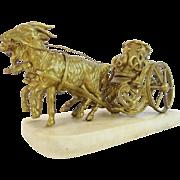 "REDUCED Palais Royal  Goat Cart Inkwell  ""RARE TWIN GOATS"""