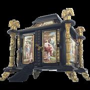 """SALE Antique Austrian Viennese  Casket """"14  Enamel Plaques"""" MAGNIFICENT"""