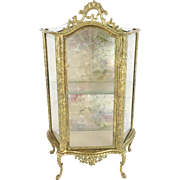 """SALE Antique French Miniature Vitrine Curio """"Perfect for Doll or a Small Collection of Ti"""
