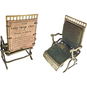 SOLD Antique Fairy Opera Chair from The Fairy Toy Works