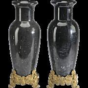 "SALE Antique 18"" French Marble Urn Vases ""G L O R I O U S ..."