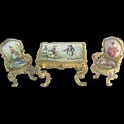 REDUCED 19C Austrian Viennese  Enamel  Miniature Set