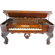 "REDUCED 1862 Salesman Sample Rosewood Piano wMusic Box "" Rosewood  Piano, from George M."