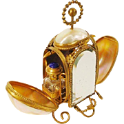 REDUCED Napoleon III Mother of Pearl Scent Casket