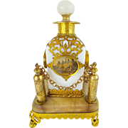 "REDUCED Palais Royal  Opaline ""Eglomise"" Perfume in Ornate Holder"