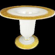 "Antique White Opaline Vase "" Elaborate Gilding"""