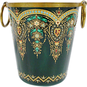 "Magnificent French ""Sevres Style"" Jeweled Cachepot"