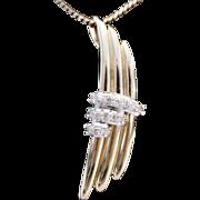 BEAUTIFUL 14KARAT Yellow Gold and Diamond Pendant