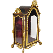 REDUCED Magnificent French  Miniature Vitrine Curio