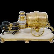 "SOLD Grandest  10 ½"" Palais Royal Scent Horse Cart."