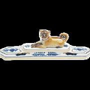 Antique Meissen Porcelain Pug
