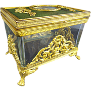 Magnificent Antique French Empire Style Portrait Hinged Box