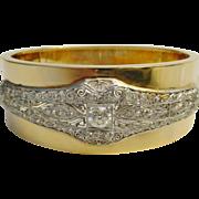 SALE Majestic Diamond Platinum and 14K Bangle Bracelet