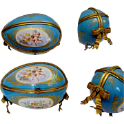 "SALE Antique French Sevres Style Porcelain Casket ""GRANDEST"""
