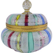 """SOLD Italian Hinged Box """"Glorious Colors & Exquisite Shape"""" - Red Tag Sale Item"""