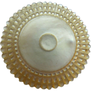 """Antique Carved Mother of Pearl Spool Holder """"1850"""""""