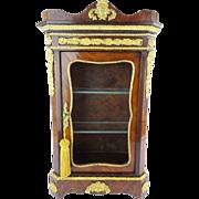"SOLD Antique Miniature French Vitrine ""Extraordinary Gilt Ormolu"" Circa 1840"