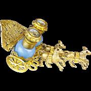 "SOLD Palais Royal Blue Opaline Scent Caddy  ""RARE THREE HORSES"""