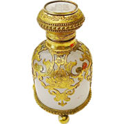 "REDUCED Grand Tour White Opaline Scent"" Hand Painted Miniature Top"""