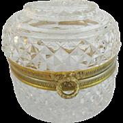 Antique French Cut Crystal Box
