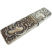 """REDUCED Antique 925 Sterling Match Safe """"Needle Case or Perfume?"""""""