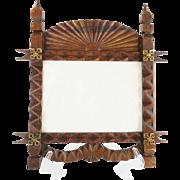 SALE Antique Oak Picture Frame