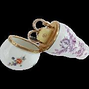 """SALE Antique Porcelain Necessaire Etui  """"12K PIECES"""""""