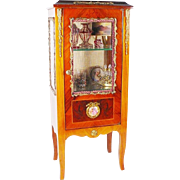 REDUCED Lovely Vintage French Style Miniature Vitrine Curio
