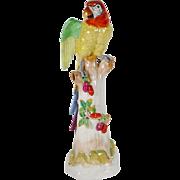 "24"" Dresden Porcelain Parrot "" BIG '"
