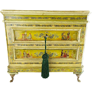 "SOLD LAYAWAY Antique French Chinoiserie Decorated Miniature Chest  ""WONDERFUL & VF QUALIT"