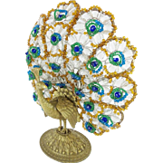 "1920 Czech Peacock Lamp  ""BIG ORNATE BASE""  #2"