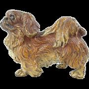 "SALE Antique Austrian Cold Painted Bronze Pekingese Dog ""Stamped : AUSTRIA"""