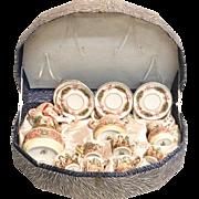 "Antique Capodimonte Tea Set in Presentation Box ""15 Pieces"""