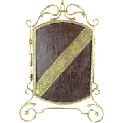 Antique Vanity Top Tri Fold Mirror.