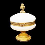 "REDUCED Antique French Opaline ""Bulle de Savon"" Casket Hinged Box"